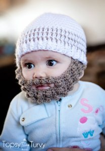 Crochet Bobble Beard Pattern from Topsy Turvy