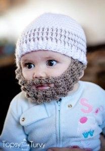 Crochet Bobble Beard Pattern from Topsy Turvy