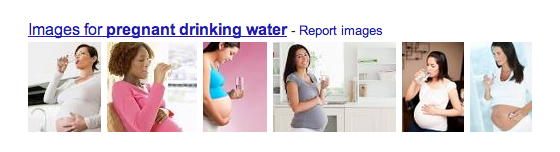 I don't look like any of these woman when I drink water. It's usually me sweating, standing in front of an open refirgerator with my belly out, guzzling frantically.