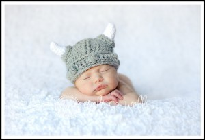 Custom Crochet Baby Viking Hat by Cricket Creations
