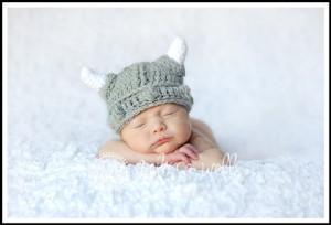 Custom Crochet Baby Viking Hat by Cricket Creations