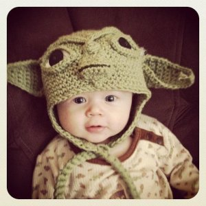 Made to Order Crochet Baby Yoda EarFlap Hat by MamaJody54